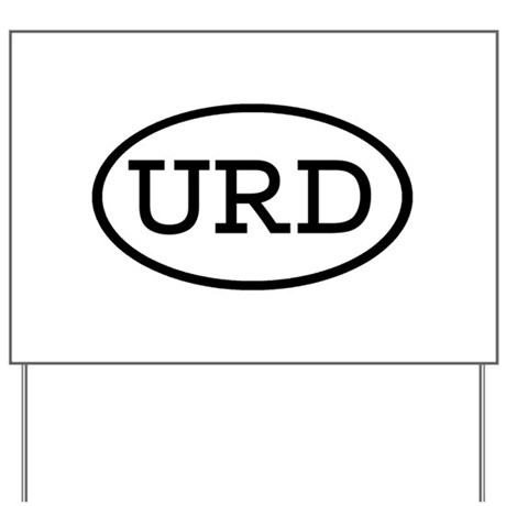 URD Oval Yard Sign