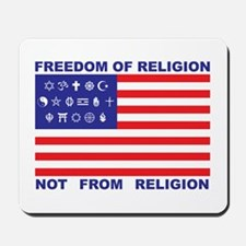 Freedom of Religion Mousepad