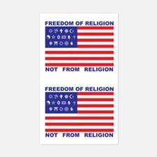 Freedom of Religion Rectangle Decal