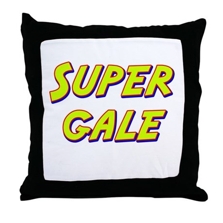 Super gale Throw Pillow