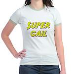 Super gail Jr. Ringer T-Shirt