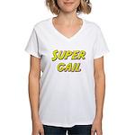 Super gail Women's V-Neck T-Shirt
