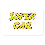 Super gail Rectangle Sticker