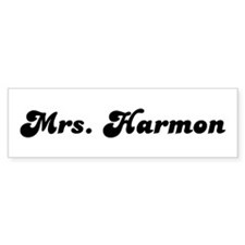 Mrs. Harmon Bumper Bumper Sticker