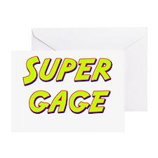 Super gage Greeting Card