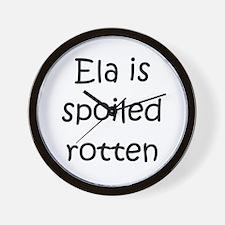 Named ela Wall Clock