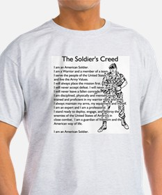 The Soldiers Creed Ash Grey T-Shirt