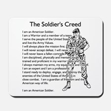 The Soldiers Creed Mousepad