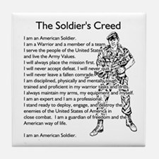 The Soldiers Creed Tile Coaster