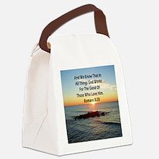 ROMANS 8:28 Canvas Lunch Bag