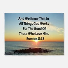 ROMANS 8:28 5'x7'Area Rug