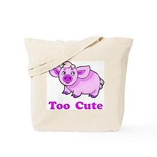 Too Cute Pig Tote Bag