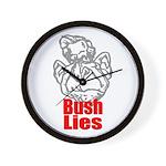 Bush Lies Wall Clock