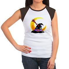 Halloween Witches Hat Women's Cap Sleeve T-Shirt