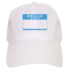Blank Name Tag Baseball Cap