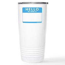 Blank Name Tag Travel Mug