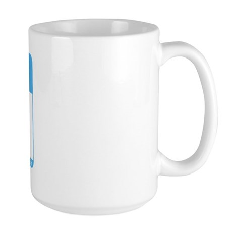 Blank Name Tag Large Mug