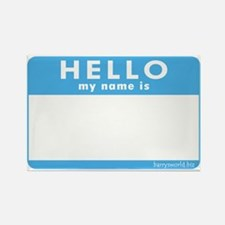 Blank Name Tag Rectangle Magnet (10 pack)