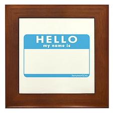 Blank Name Tag Framed Tile