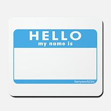 Blank Name Tag Mousepad