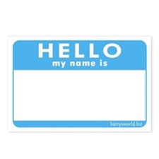 Blank Name Tag Postcards (Package of 8)