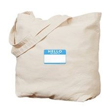 Blank Name Tag Tote Bag