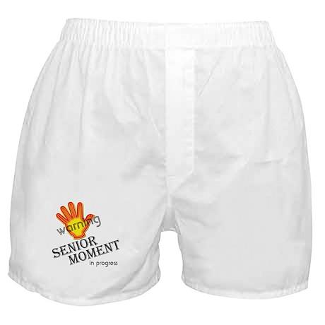 senior moment in progress Boxer Shorts