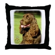 Field Spaniel 9P018D-158 Throw Pillow