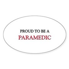 Proud to be a Paramedic Oval Decal