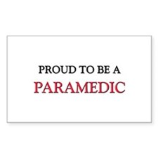 Proud to be a Paramedic Rectangle Decal