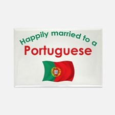 Happily Married Portuguese 2 Rectangle Magnet