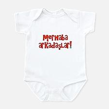Hello Friends Turkish Infant Bodysuit