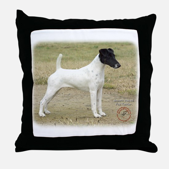 Fox Terrier 9P011D-093 Throw Pillow