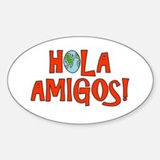 Hello Friends Spanish Oval Decal