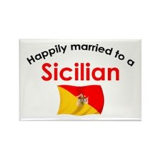 Happily Married Sicilian 2 Rectangle Magnet