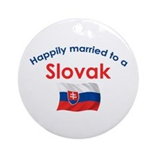 Happily Married Slovak 2 Ornament (Round)