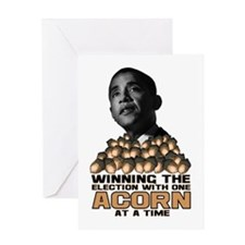 Obama - Acorn Greeting Card