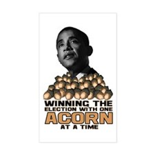 Obama - Acorn Rectangle Decal