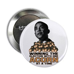 "Obama - Acorn 2.25"" Button (10 pack)"
