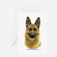 German Shepherd 9B51D-11 Greeting Card