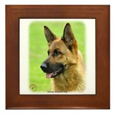 German Shepherd Dog 9B50D-20 Framed Tile