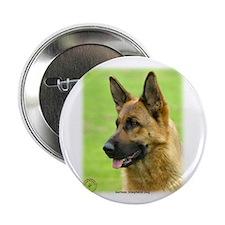 """German Shepherd Dog 9B50D-20 2.25"""" Button (10 pack"""
