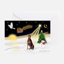 Night Flight/Dobie (red) Greeting Cards (Pk of 10)