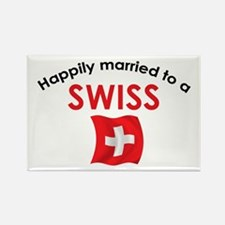 Happily Married Swiss 2 Rectangle Magnet