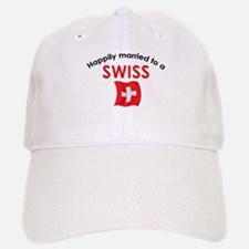 Happily Married Swiss 2 Baseball Baseball Cap