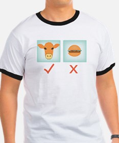 Go Veggie! Yes to Cows, No to Hamburgers T