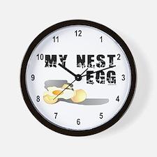My Nest Egg Wall Clock