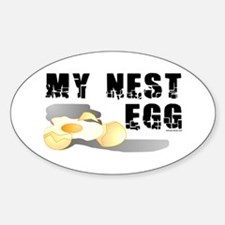 My Nest Egg Oval Decal
