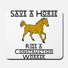 Construction Worker Mousepad