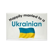 Happily Married Ukrainian 2 Rectangle Magnet